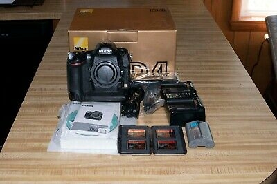 Nikon D4 DSLR 16.2MP Digital Camera Body Used, CF cards, Busch Book