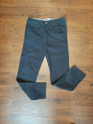 H&M Boys Navy Slim Stretch Fit Chino Trousers Age 11 - 12 immaculate condition