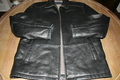 Genuine Lamb's Leather Men's Size Small Jacket Soft, quiet leather in Black