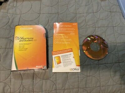 Microsoft Office Home And Student 2007 In Retail Box W/ Key