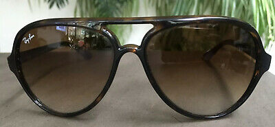 Ray-Ban Cats 5000 RB4125 Havana Brown with Brown Gradient. Current Stock £136