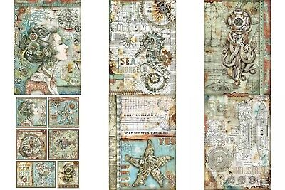 Stamperia Rice Paper A4  Sea World Collection 6 Designs to Choose From New
