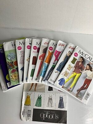 12 Sewing Patterns Lot Womens 6-16 McCalls Vogue Simplicity Easy Uncut
