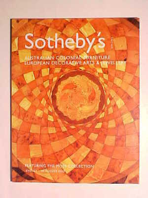 Sotheby 8/26/03 Australian Colonial Furniture + Jewelry