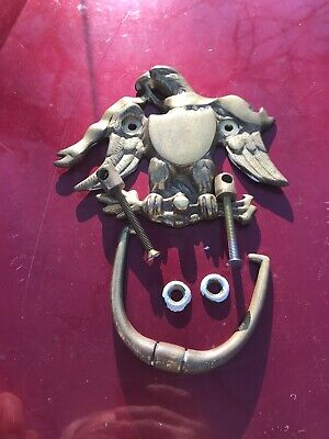 "Vintage ""Virginia Metalcrafters"" Brass Eagle Head Door Knocker Mid Century Era"