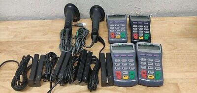 SET OF FOUR verifone pinpad 1000se with card reader, Two Symbol Scanner