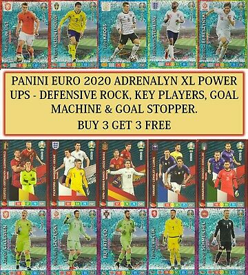 Panini Adrenalyn XL UEFA Euro 2020 - RARE Master Multiple Power Up Cards