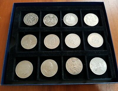 COLLECTION OF COINS - 12x £5 Coins+Crowns - Mixed Job Lot