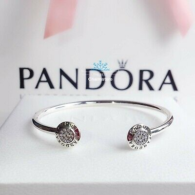 New Genuine Pandora Sterling Silver Signature Bangle 590528CZ RRP£55