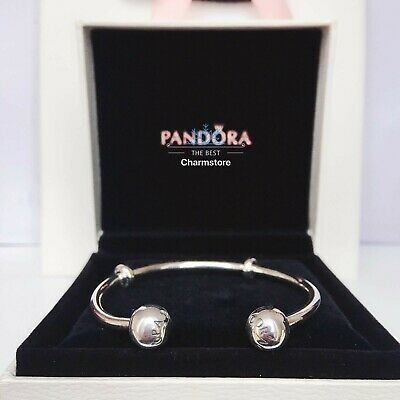 New Genuine Pandora Sterling Silver Moments Open Bangle 596477 RRR£60