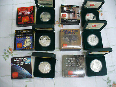 Lot Of 6   1998-2003    Canada   Proof Dollars 1 One Dollar Coins