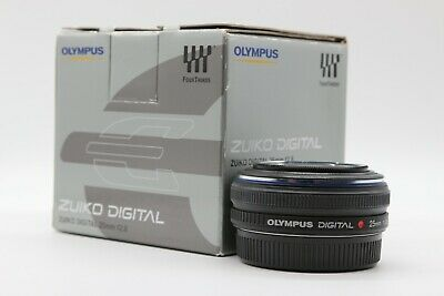 Olympus Zuiko Digital 4/3 (Four-Thirds) 25mm f/2.8 Pancake Lens Boxed with Caps