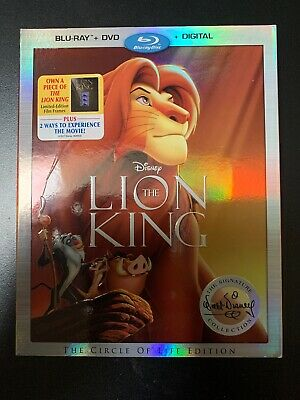 The Lion King (Blu-ray/DVD, 2017, 2-Disc Set, Include Digital Copy 2017)