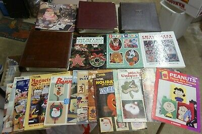 Huge Lot Of Vintage Plastic Canvas Patterns Huge!!!  Plastic Canvas Needlepoint
