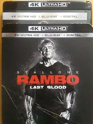 Rambo: Last Blood 4K Ultra, Blu-Ray, 2019 Sylvester Stallone Rocky Nielson Creed
