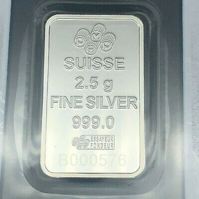 Rare Pamp Suisse Bullion Bar (Liberty) 2.5 Grams 999 Fine Silver #56