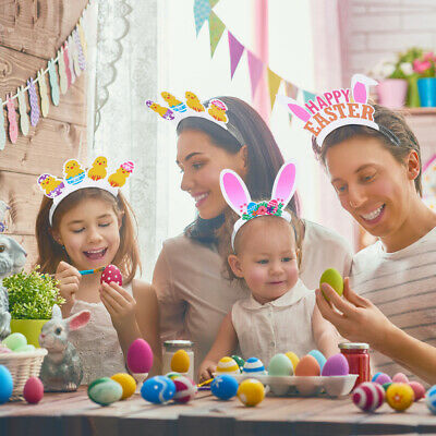 Amosfun 12PCS Easter Headbands Rabbit Ears Party Costume for Kids Babies Adults