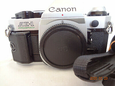 Mint Canon AE-1 Program SLR Camera Body with strap,manual from Japan 2256