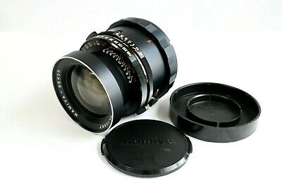 """""""Excellent"""" Mamiya Sekor 65mm f/4.5 Lens F/R caps. from JAPAN"""