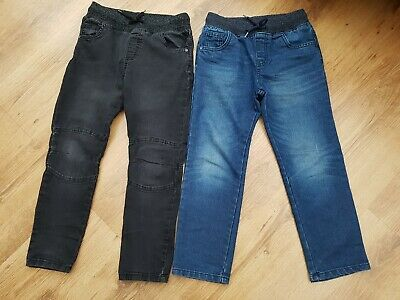 Boys Jeans, 1x black, 1x blue. Both age 7-8 years