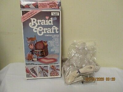 Vintage 1987 BRAID CRAFT Deluxe Rug Braiding Tool Set, In Box, No Braid Book