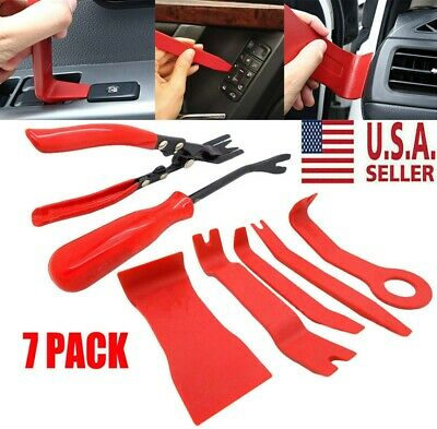 7X Plastic Body Removing Tools & Car Door Upholstery Trim Clip Pliers Removal