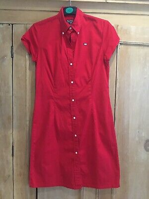 Ralph Lauren Polo Designer Shirt Dress Red Summer Size M ( Size 10 12)