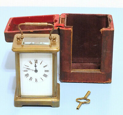 Antique French Carriage Clock and case by R & Co