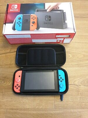 Nintendo Switch Console with Neon Blue/Neon Red Joy-Con Controllers