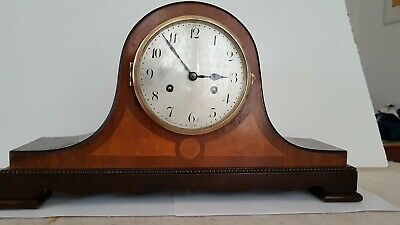 Vintage 1924 Junghans A42 Wooden Mantel Clock with Key & Pendulum Working