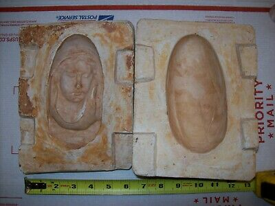 Vintage Virgin Mary Press or Make Slip Ceramic Mold