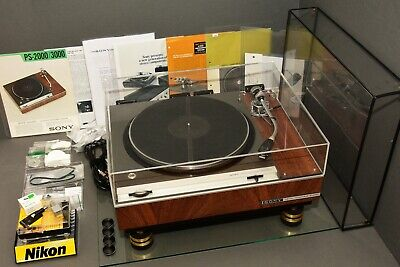 sony tts-3000, rare turntable, 98% mint,SME 3009,original old dust cover and new