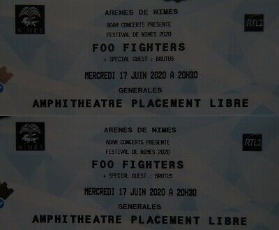 2 Tickets - Foo Fighters - Amphitheater von Nimes - anstatt Berlin