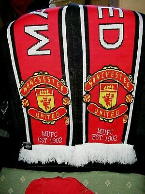Manchester United Football Scarf 100% acrylic official Item made in UK