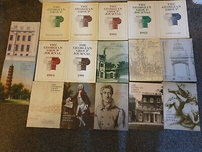 17 Editions of the Georgian Group Journal 1980s to 2000s Good Condition