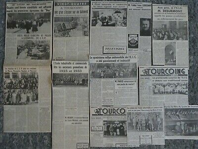 Lot Articles Lycee De Tourcoing E.i.c Licp Ans 50 Eleve Ecole Privee Industriell