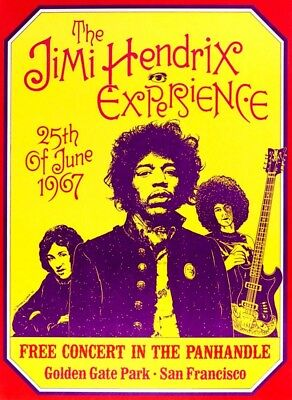 Reprint of vintage concert poster - The Jimi Hendrix Experience, 1967 (Size A4)