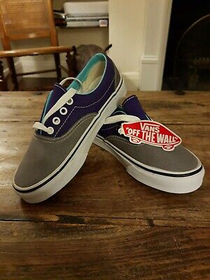Vans Off The Wall shoes/trainers Size UK 4 US 6 BRAND NEW! purple & grey