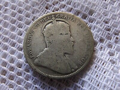 1906 Canada Quarter Silver Coin * Canadian 25 Cents *