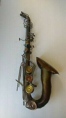 Saxophone Wall Art Metal decor Music Jazz unique brass band sax blues