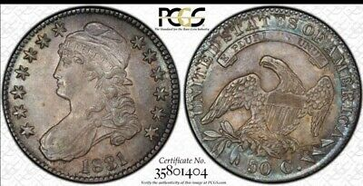 1831 Capped Bust Half Dollar PCGS MS-64