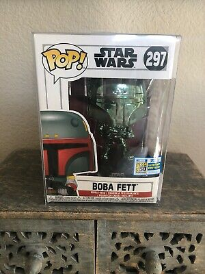 SDCC 2019 FUNKO POP Star Wars: Green Chrome BOBA FETT OFFICIAL STICKER EXCLUSIVE