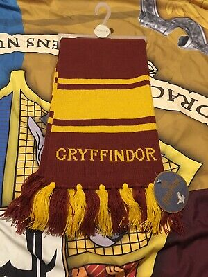 Primark Harry Potter Gryffindor Wizard Winter Knitted long Scarf New glittery