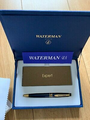 Waterman Expert 2 Ballpoint Pen In Presentation Box Gold And Navy Blue