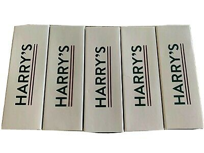 5 New Harry's Razor Blades With Handles In Individual Boxes, 4 Grey And 1 Orange