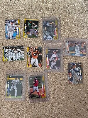 2020 Topps Series 1 Walgreens Exclusive Yellow - (10)Card Lot - Build Your Set