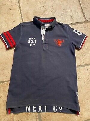 NEXT boys navy Detailed  polo shirt Age 11 yrs