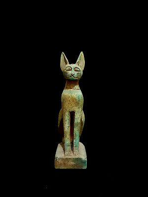 Bastet Egyptian Statue Cat Goddess Figurine Ancient Sculpture Egypt Bast Antique