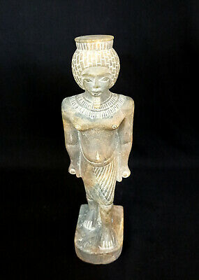 Tutankhamun Statue Egyptian King Tut Pharaoh Bust Ancient Figurine Large Antique