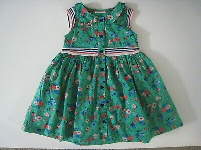 Next Kids Baby Toddler Girls Green Floral Flower Dress - 18-24 Months - Free P&P